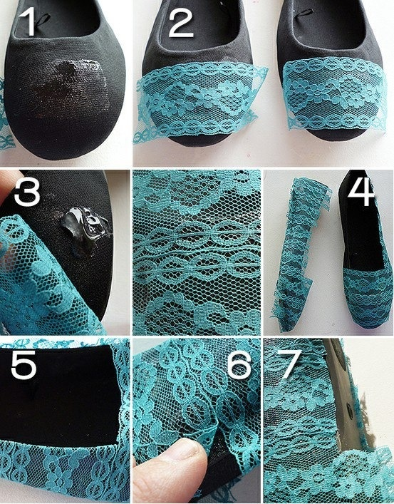 Blue Lace Flats DIY