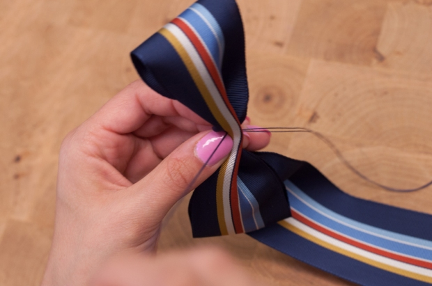 Sewing Ribbon Into Bow