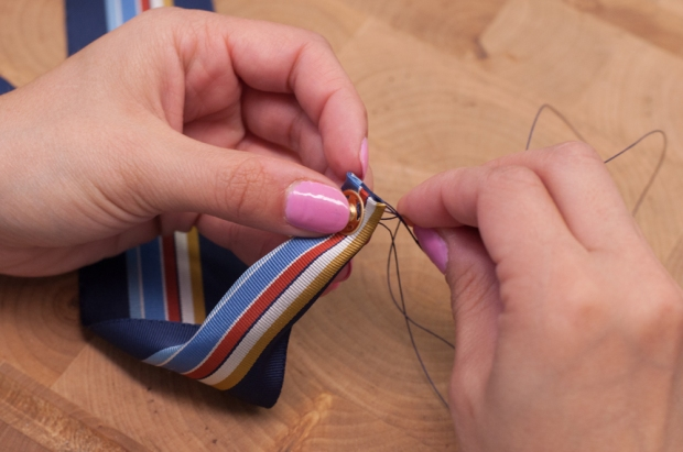 Sewing Snap to Bow Tie
