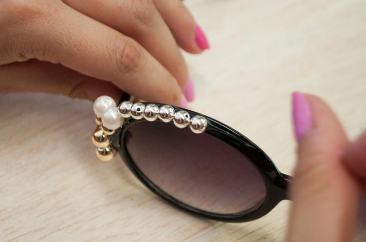 Adding Glue to Top of Sunglasses