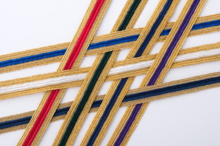 "1/2"" Fine Metallic Stripe Braid"