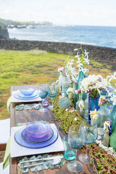 Sea Glass Tablescape