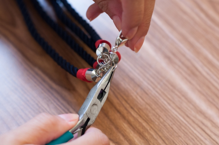 Adding Lobster Clasp to Nautical Knot Necklace