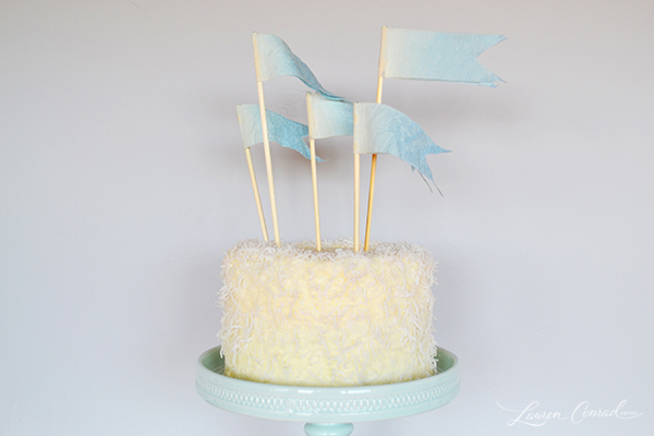 Ombre Flag Cake Toppers