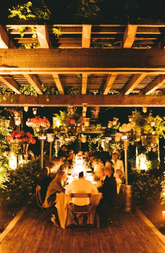 Molly Sims wedding photo by Gia Canali - some dinner guests dine