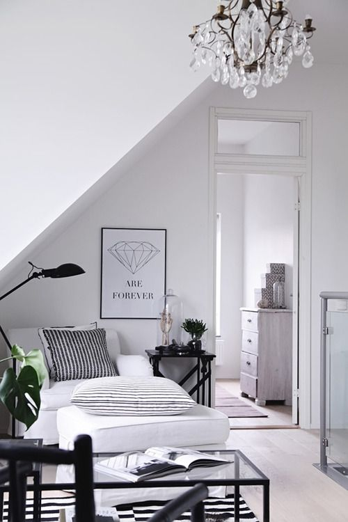 High Contrast Black and White Bedroom
