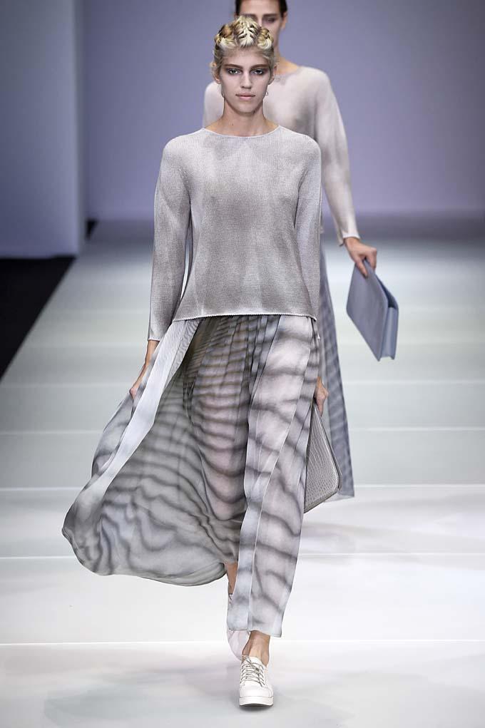 Giorgio Armani Milan Fashion Week Spring Summer 2015 September 2014