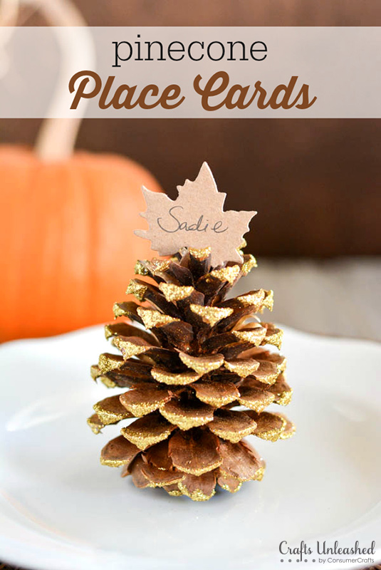 Pinecone-place-card-setting-Crafts-Unleashed