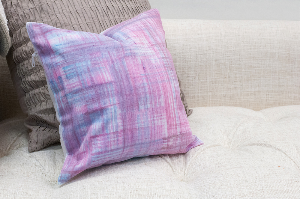 diy water color pillow cover
