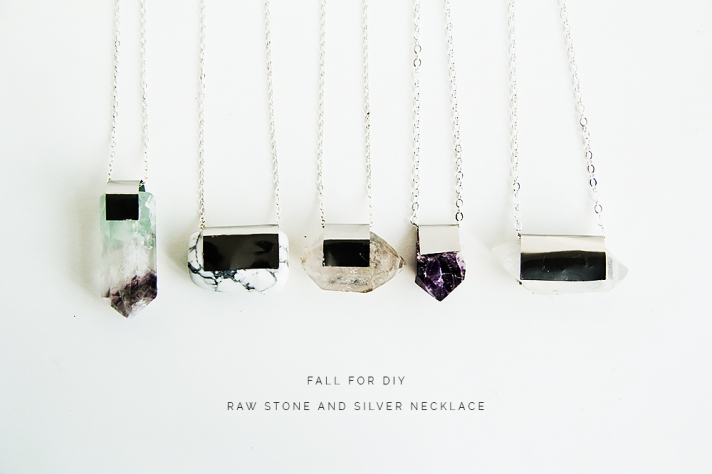 Fall-For-DIY-Raw-Stone-and-Silver-necklace