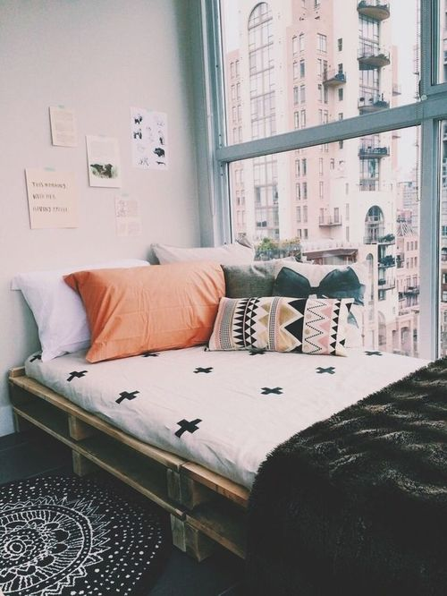 Take your bed to great heights and utilize the space underneath for a - Cozy Dorm Room Inspiration 171 M Amp J Blog