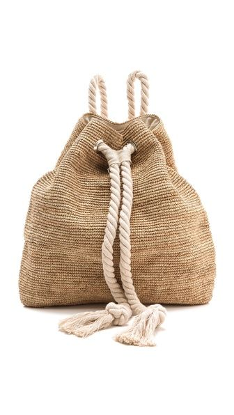 M&J Trimming - Rope and Raffia Backpack