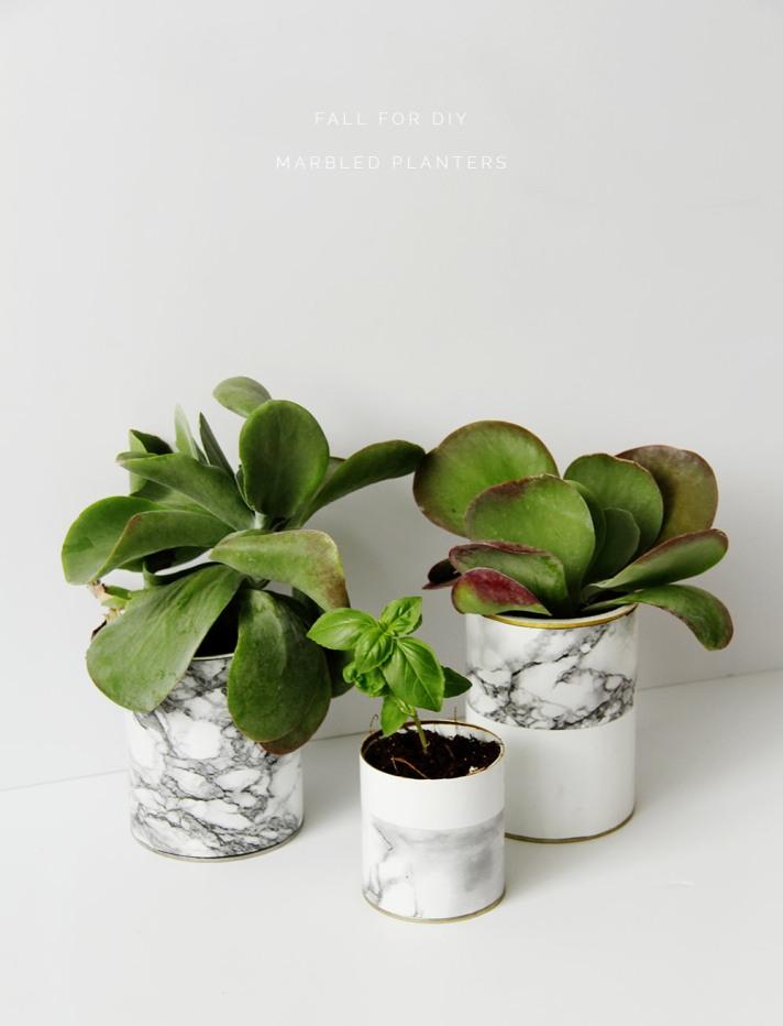 M&J Trimming -Marble Planters DIY