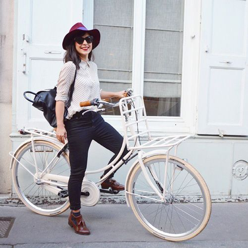 M&J Trimming: White Bicycle and Backpack