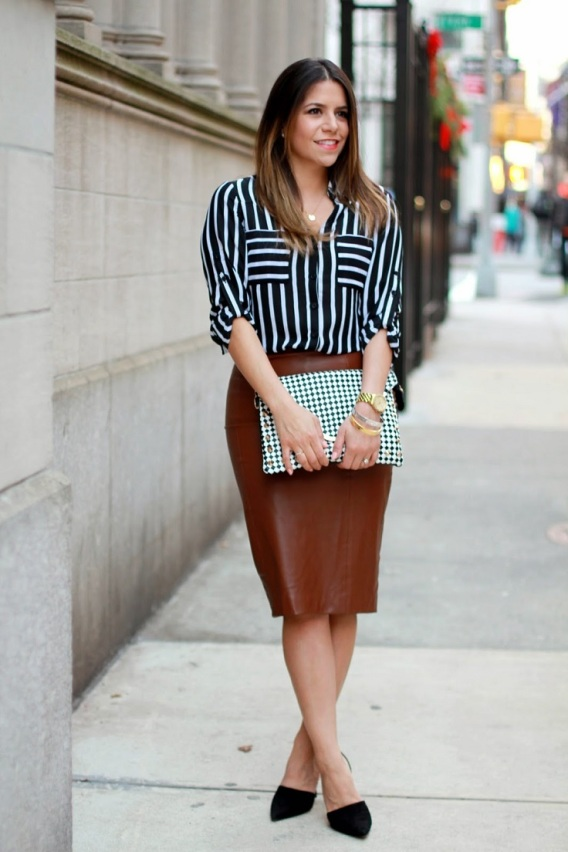 M&J Trimming - Leather Pencil Skirt