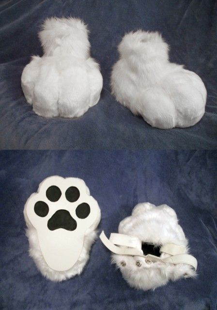Paw Costume Feet DIY