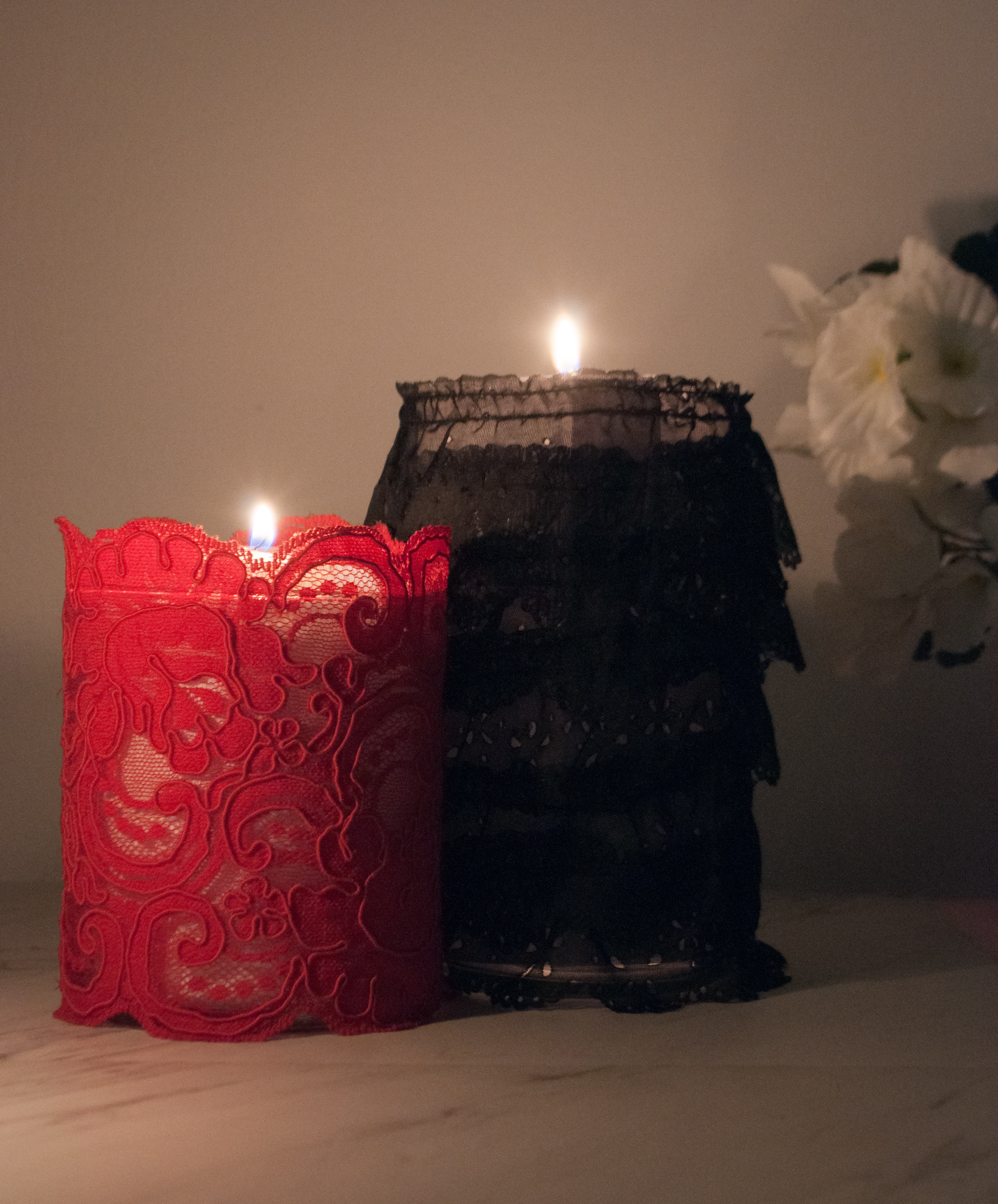 DIY: Romantic Lace Candle Holder
